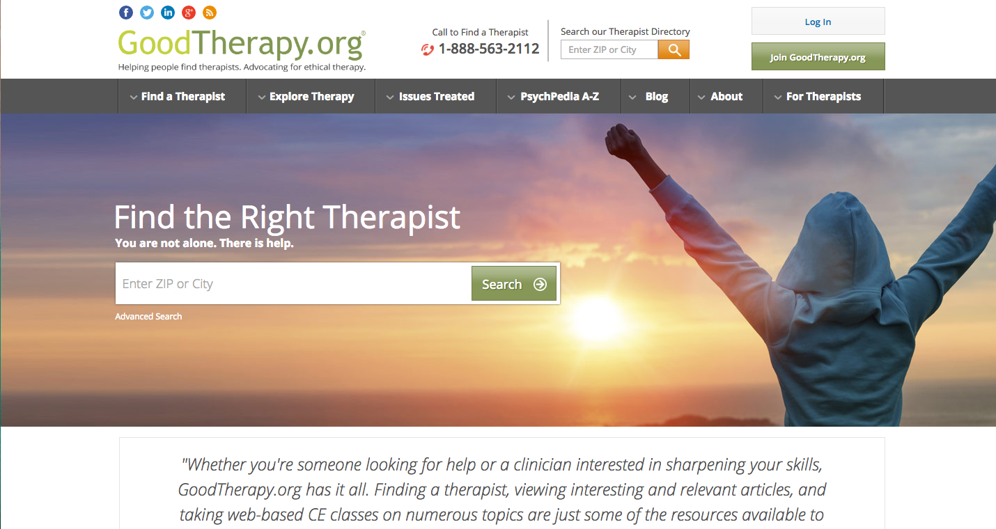 Image of Good Therapy Website - TheraNest Blog