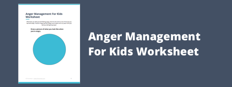 Free Anger Management PDF Worksheet for Kids | TheraNest