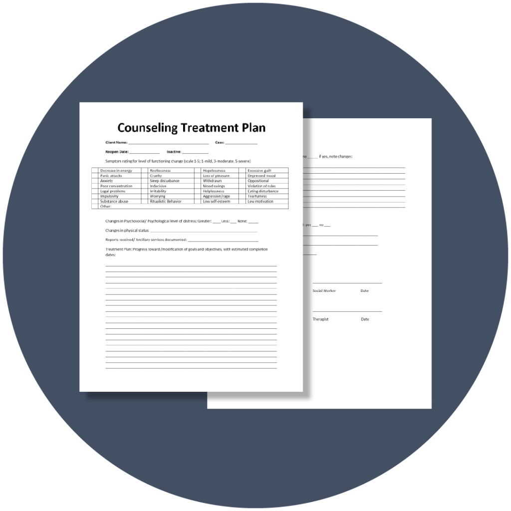 Free Treatment Plan Template for Mental Health | TheraNest